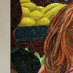 Times Square-42nd Street; Jack Beal, The Return of Spring/The Onset of Winter, 2001/2005. Detail drawing made by Jack Beal (Left). Subsequent mosaic detail (Right).