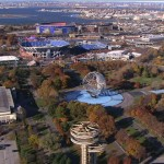 An aerial view of Queens' Flushing Meadows Corona Park. Photo courtesy of NYC Media.
