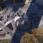 An aerial view of Prospect Park's Grand Army Plaza. Photo courtesy of NYC Media.