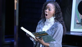 """Linda as Antonia singing """"Elle a Fui,"""" an aria about the death of Antonia's mother. It was especially emotional for Linda because her own mom died soon after she started studying opera. """"The character is feeling sad and lonely and missing her mother,"""" Linda says """"I can relate well on that one."""""""