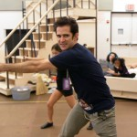 """Viewer question:<br> """"How many times did everyone get interviewed? Was it during rehearsals or at a separate time?"""" <br><br> Joshua Seftel:<br> """"We probably interviewed Andy [Blankenbuehler, the choreographer] 10 times."""" <br><br> Jill Landaker Grunes:<br> """"It was a different number of times for each person, both in and out of rehearsal."""" <br><br> Pictured: Andy Blankenbuehler and the cast of ANNIE."""