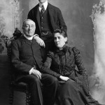 Franklin D. Roosevelt as a young man with his father and mother. Photo Credit: Courtesy Franklin D. Roosevelt Presidential Library and Museum.