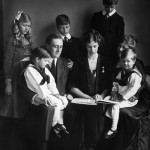 Franklin D. Roosevelt and his children. Photo Credit: Courtesy Franklin D. Roosevelt Presidential Library and Museum.
