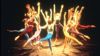 """HOLY TRINITY: A still from the Joffrey Ballet's signature work """"Trinity,"""" featured in the American Masters film Joffrey: Mavericks of American Dance. (Photo by Herbert Migdoll)"""