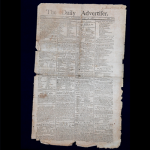 This rag paper dates back to 1788 - right around the time the New York Assembly was voting whether to accept the Constitution. It was pressed in an old magazine, which affected it's quality, but it is still valued in the range of $2,500 to $3,500.
