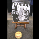 This signed photograph and baseball was given to a member of her backup band at a party in 1953. The ball was signed by the entire Yankee team, including Joe DiMaggio. Value: $15,000